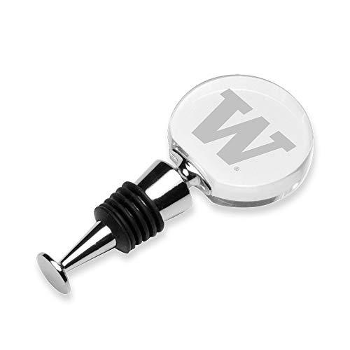 - NCAA Washington Huskies Crystal Wine Stopper, Clear, One Size