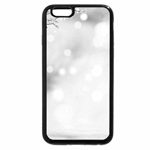 iPhone 6S Plus Case, iPhone 6 Plus Case (Black & White) - Winter Time
