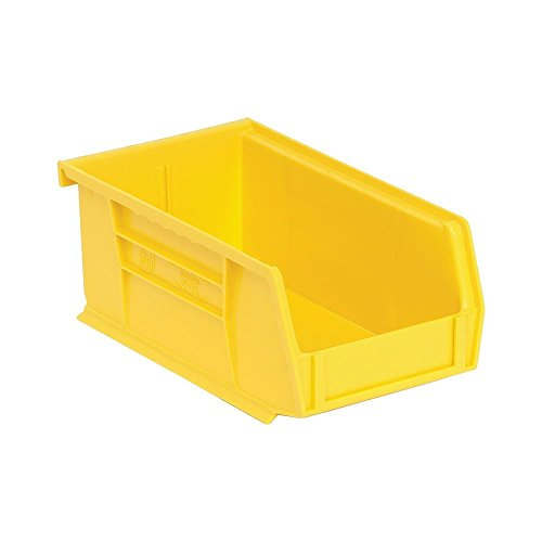 Quantum QUS220 Plastic Storage Stacking Ultra Bin, 7-Inch by 4-Inch by 3-Inch, Yellow, Case of 24