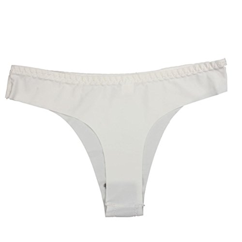 Thong Bragas Basse String Adeshop Taille Simple Cotton Coton vêtements Pure Sous Spandex Femmes Blanc Couleur Invisibles Underpants Underwear w6q76OBI