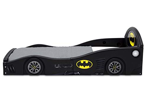 DC Comics Batman Batmobile Car Sleep and Play Toddler Bed with Attached Guardrails by Delta Children 6