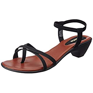 BATA Women's Aroma San Black Fashion Sandals-5 (6616433)