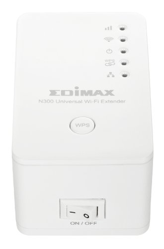 Edimax EW-7438RPn V2 300Mbps 802.11/b/g/n Universal Wi-Fi Range Extender, Repeater, Wireless Bridge, Access Point, Wall Plug design, Smart LED Signal Indicator, Easy iQSetup by Smartphone, No CD Required
