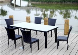 Anderson Teak SR-622 Sheraton Outdoor Dining Set