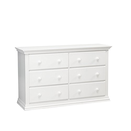 Classic Styling Station (Baby Cache Greenwich 6 Drawer Double Dresser- White)