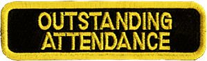 Tiger Claw Patch - Outstanding attendance in yellow