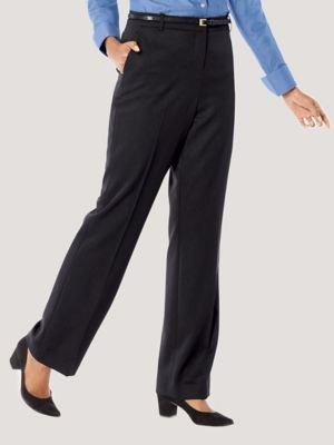 Pendleton Women's Seasonless Wool Straight Leg Pants, Black, 12 ()