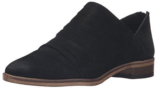 Frauen Loafers schwarze Velourslederoptik