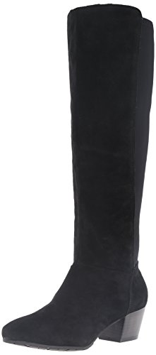 3 3/4' High Heel Pump - Kenneth Cole REACTION Women's Pil-Anthropy Tall Shafted to The Knee Equestrian Boot, Black, 9.5 M US