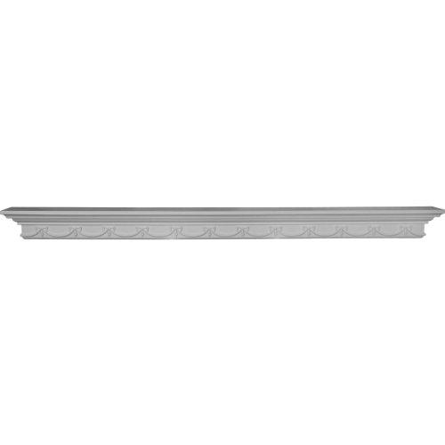 Ekena Millwork SH60X04X04VE 60-Inch W x 4 3/8-Inch H x 4 1/8-Inch P Versailles Shelf by Ekena Millwork