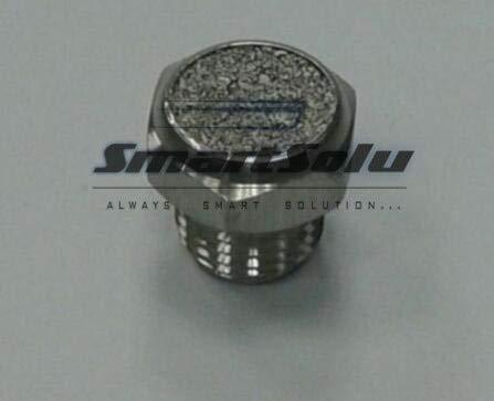 Fevas 10pcs/lot Stainless Steel Exhaust Muffler Muffler G1/2'' Thread Pneumatic Fittings Muffler XSV-G04 by Fevas