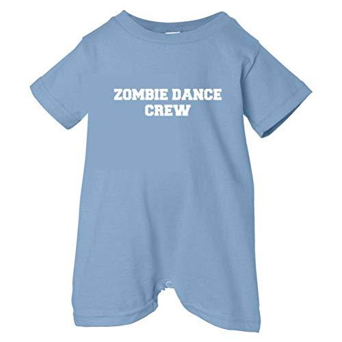Zombie Underground Unisex Baby Zombie Dance Crew T-Shirt Romper (Lt. Blue, 6 Months)