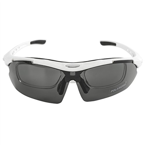 KT-SUPPLY UV-Schutz Radbrille Mit 5 Austauschbaren Polarisierten Gläsern Schwarz wIqUeju8tR