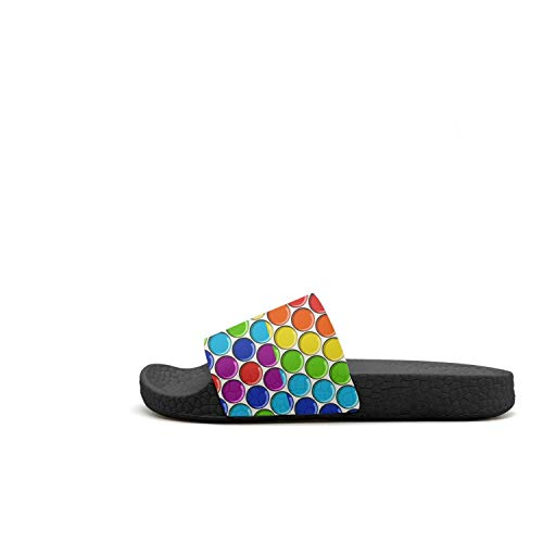 Crystal Bath Flip Sandals Non Crystal Outdoor Toe Womens Flop Guxefi Rainbow Slip Rainbow Open Slides nOxfF1Z