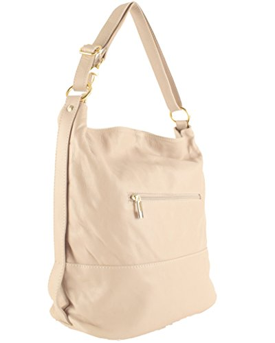 Handbag smooth Histoiredaccessoires Beige Woman Shoulders Leather Sa105314ao 6n6q8rOX
