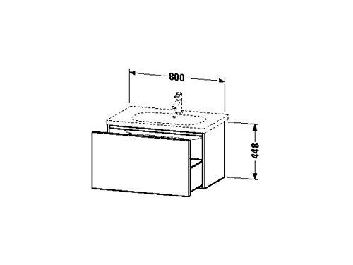 Duravit Waschtischunterschrank wandh. Delos 460x800x448mm 1 Auszug, für 034285, weiss hochglanz, DL6