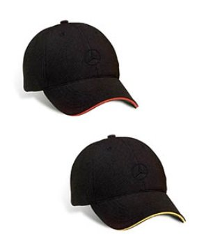 Logo Sandwich (Mercedes Lifestyle Collection AMG Performance Cap With Contrast Sandwich (S-M, Red))