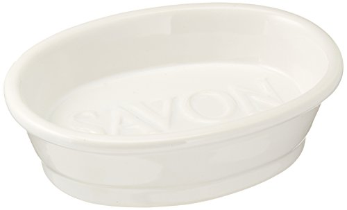 Abbott Collection White Oval Savon Dish