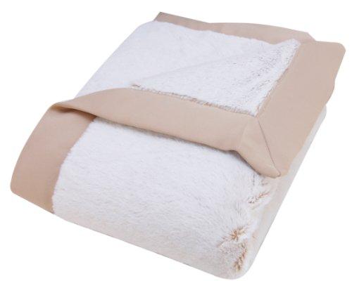 Baby Boo Newborn Blankets - Trend Lab Peek-a-Boo Faux Fur Framed Receiving Blanket, Sand