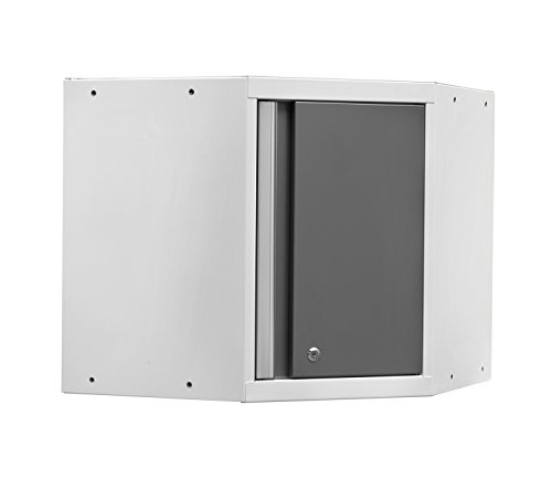 NewAge Products 52401 Pro 3.0 Series Corner Wall Cabinet, White by New Age