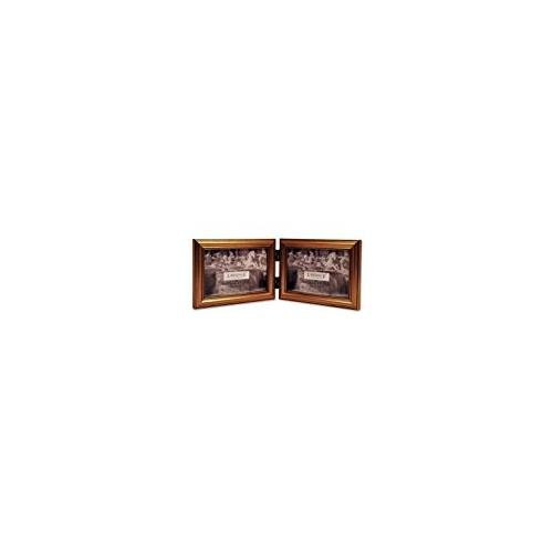 Lawrence Outdoor Wall (Lawrence Frames Antique Gold Wood Double 6x4 Horizontal Picture Frame - Classic Frame)