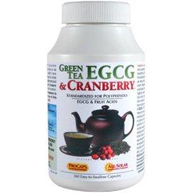 Green Tea EGCG & Cranberry 180 Capsules