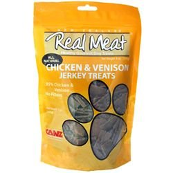 THE REAL MEAT COMPANY 828004 Dog Jerky Chicken/Venison Treat, 12-Ounce