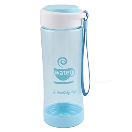 eDealMax plástico Inicio Leche té Tamiz Deporte Beber Botella de agua la Taza de 500 ml