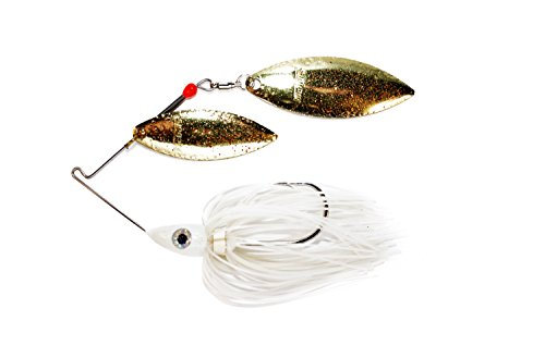 Nichols Lures Pulsator Metal Flake Double Willow Spinnerbait, Blue Shad/Gold, ()