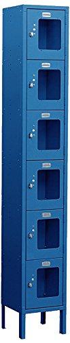 Salsbury Industries S-66168BL-U Six Tier Box Style 12-Inch Wide 6-Feet High 18-Inch Deep Unassembled See Through Metal Locker, Blue