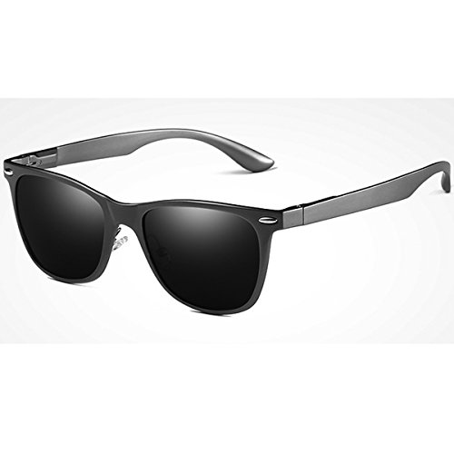 FEIDU Cocoons Fitovers Polarized Sunglasses Aviator (XL) Black/Grey-le