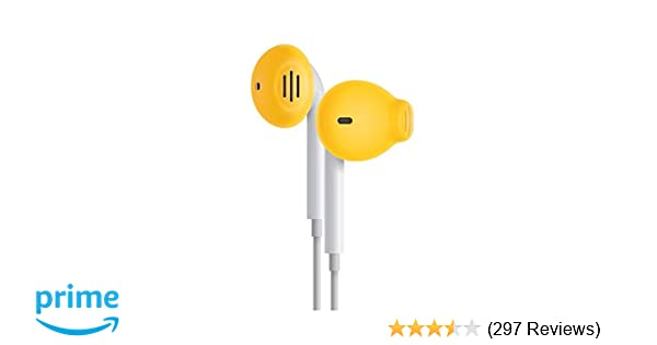 8c54656bf6e Amazon.com: EarSkinz ES2 Covers for Apple EarPods (Yellow): Electronics