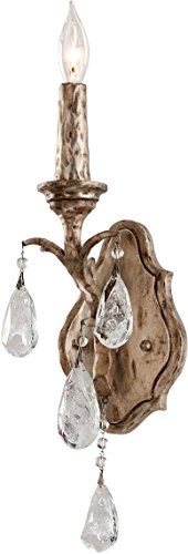 - Corbett 163-11, Amadeus Candle Crystal Wall Sconce Lighting, 1 Light, 20 Watts, Vienna Bronze