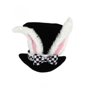 White Rabbit Topper Adult Hat by elope - Adult White Rabbit Hat