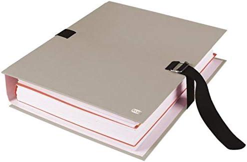 20225 EXACOMPTA Lot de 10 Chemises /à dos extensible papier kraft gris beige fermeture par sangle