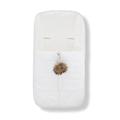 Cozy Coop Baby Quilted Stroller Bunting, White