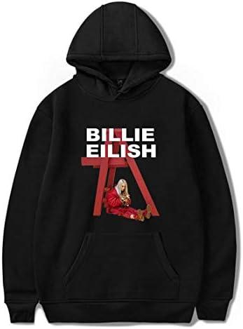 男女兼用 人気歌手 Billie Eilish パーカー 欧米 ファッション スポーツウェア ヒップホップ ダンス 演出服 カップル ライブ 応援服
