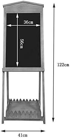 Tekentafel Message Board Chalkboards Retro Planken opslag Solid Vertical Restaurant Coffee Flower Shop, Schrijfbord