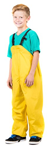 Bib Rain Pants (Suse's Kinder Rain Bib for Kids, Rain Pants in 6 sizes for Toddlers up through Age 8 (120 (ages 5-6), yellow))