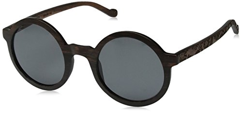 Earth Wood Canary Polarized Round Sunglasses, Ebony//Black, 49 mm - Polarized Earth Sunglasses Wood