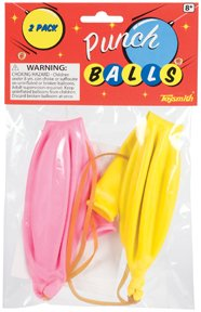 Toysmith Pack of 2 Classic Punch Ball Balloons Bouncy Fun