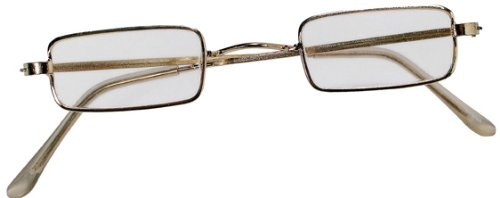 [Rubies Retro Santa Claus Square Costume Glasses] (Old Grandma Costumes)