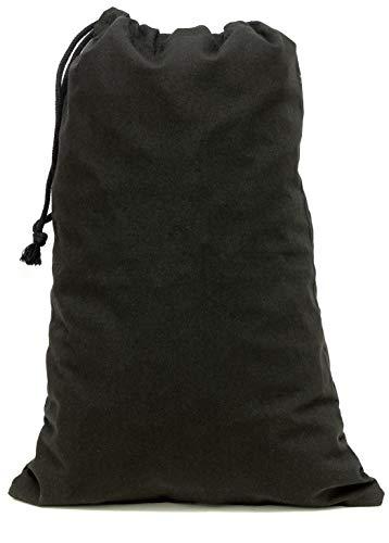 Aura M Pack 2 45cm 30 x Size of Drawstring Bags Cotton Black H4rPHAxqZw