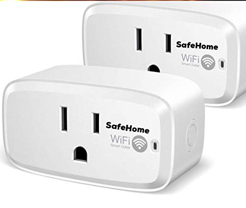 SafeHome Smart Plug Echo Alexa Control Air Conditioner,2 Pack SafeHome Wireless Wifi Outlet Switch Socket Works with Echo and Google Assistant,IR Remote Controlling Air Conditioner for ios and Android by SafeHome Electronics
