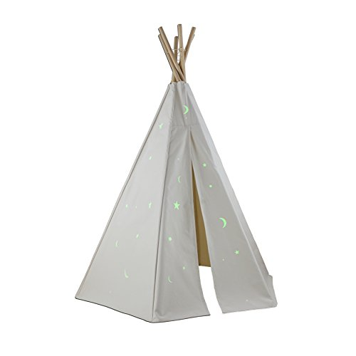 Dexton Great Plains Teepee with Glow in the Dark Stars, 6' - Dexton Toy
