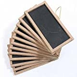 12 Mini Chalkboards 2X4- For Wedding Place Cards Party Favors, & Crafts by Unknown