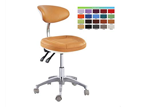 SoHome Portable Dentist Chair Doctor's Stool Concaved-Design Mobile Chair Height Adjustment Micro Fiber Leather by SoHome (Image #3)