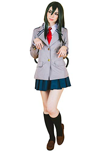 (DAZCOS Adult US Size Ochaco Uraraka Cosplay Costume (Women XX-Large) Grey)