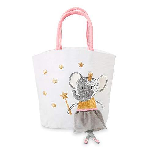 Emma Tote Bag - Mud Pie Ballet Elephant Dangle Leg Mini Tote Bag