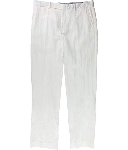 Ralph Lauren Mens Classic-Fit Casual Chino Pants, White, 33W x 32L ()
